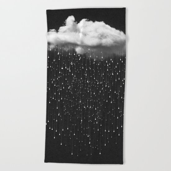 Let It Fall III Beach Towel