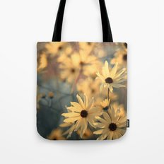 Autumn Botanical Muted Sunflowers Tote Bag