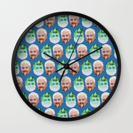 Guy Fieri Repeated Pattern Wall Clock
