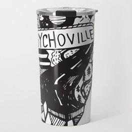 Psychoville black ink drawing Travel Mug