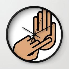 Oakland County Michigan Hand Map Wall Clock