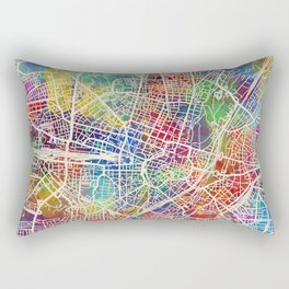 Munich Germany City Map Rectangular Pillow