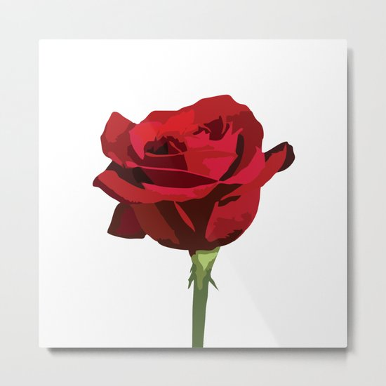 Red Rose Metal Print
