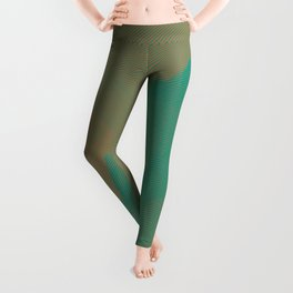 Beige and turquoise Leggings