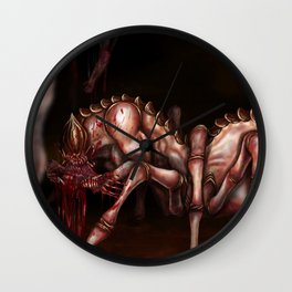 Caught in the Spider's Web Wall Clock