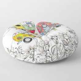 Trailer Perch Birdhouses Floor Pillow