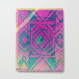 ndebele pink Metal Print