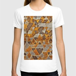 gold silver van gogh triangles T-shirt