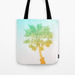 Retro Vintage Ombre Los Angeles, Southern California Palm Tree Colored Print Tote Bag