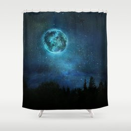 Planetary Soul Haven Night Shower Curtain