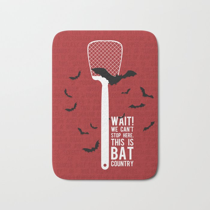 Fear and Loathing Bath Mat