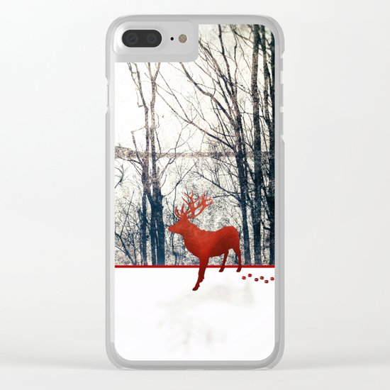 Winter Walk Clear iPhone Case