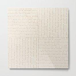 Lines III (Cream) Metal Print