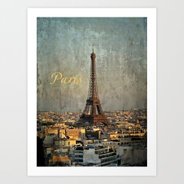 I love Paris Art Print