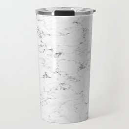 Marble White, Black and Gray 2 Texture Abstract Photography Design Travel Mug