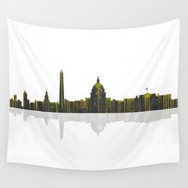 Washington DC Skyline BW 1 Wall Tapestry