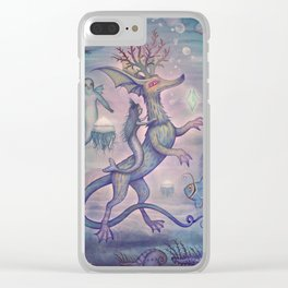 In the Turquoise Glacier Reef Clear iPhone Case