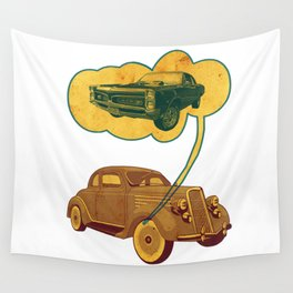 The Car in Dream Wall Tapestry