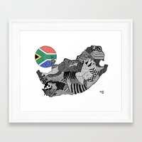 south africa Framed Art Prints featuring South Africa by Rebecca Bear