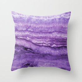 Mystic Stone Wild Violet Throw Pillow