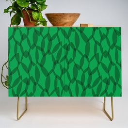 Overlapping Leaves - Dark Green Credenza
