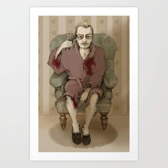 In bathrobe Art Print