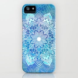 Mandala blue iPhone Case