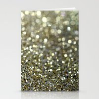 gold glitter Stationery Cards featuring Gold Glitter by Hannah