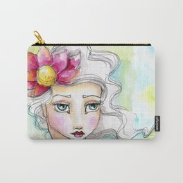 Lotus Flower Girl Carry-All Pouch