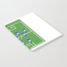 Football Soccer sports team in blue Notebook