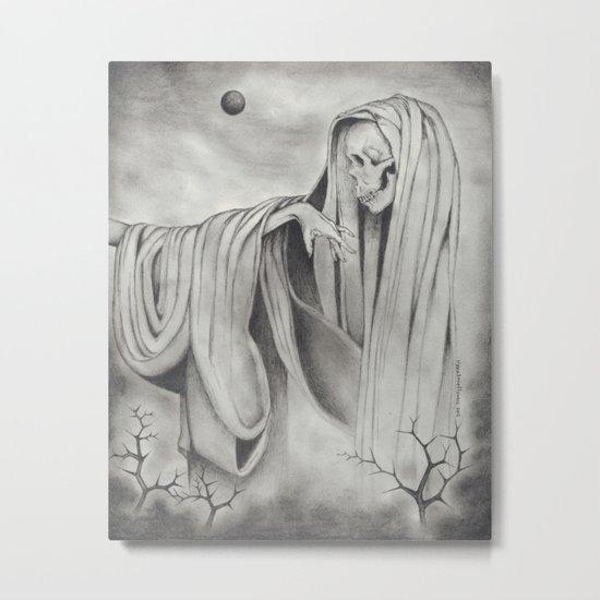 Black Blood Moon Metal Print
