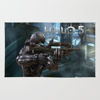 guardians Area & Throw Rugs featuring Halo5 Guardians by giftstore2u