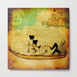 The gondola bicycle ( per Luca ) Metal Print