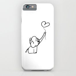 Elephant With Balloon Gift Idea iPhone Case