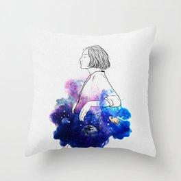 Night stories. Throw Pillow