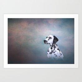 Drawing Dog Dalmatian Art Print