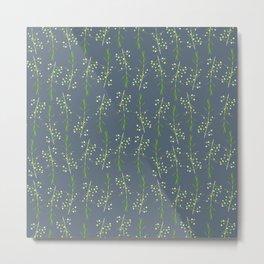 Myrtle Blue Metal Print