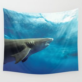 Lemon Shark Rising Wall Tapestry