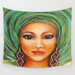 Green Gele Wall Tapestry