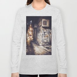Lower East Side - Midnight Warmth on a Snowy Night Long Sleeve T-shirt