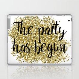 The party has begun - golden jazz Laptop & iPad Skin