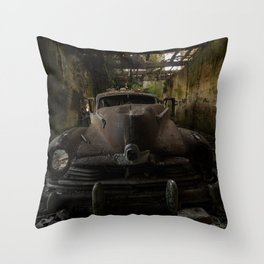 Gangster squad, abandoned old car Throw Pillow