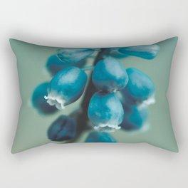 Blue Flower, Grape Hyacinth Rectangular Pillow