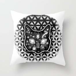 Tranquil CatLife Throw Pillow