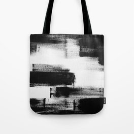 No. 85 Modern abstract black and white painting Tote Bag