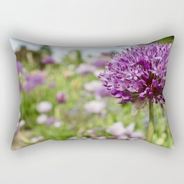 Monet's Positively Purple Flower Rectangular Pillow