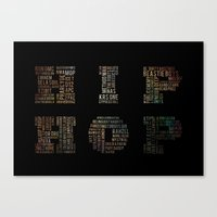 hip hop Canvas Prints featuring HIP HOP by kreatox