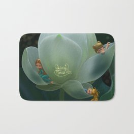 White Lotus Bath Mat