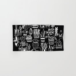 Succulent Party (Night Version) Hand & Bath Towel