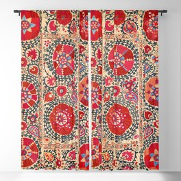 Samarkand Suzani Southwest Uzbekistan Embroidery Blackout Curtain